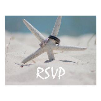 Strand-Hochzeit UAWG mit Foto Postkarte