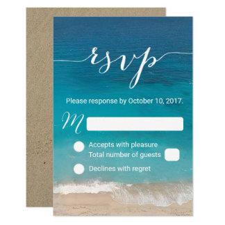 Strand-Hochzeit UAWG noble Skript-Antwort 8,9 X 12,7 Cm Einladungskarte