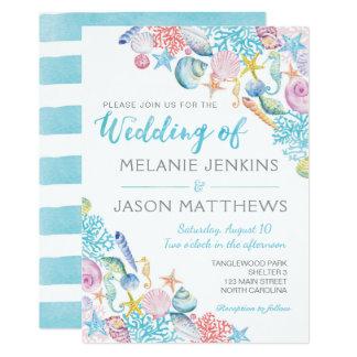 Strand-Hochzeits-Einladung 12,7 X 17,8 Cm Einladungskarte
