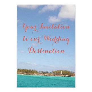 Strand-Hochzeits-Einladung 8,9 X 12,7 Cm Einladungskarte