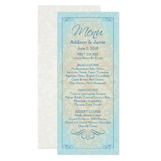 Strand-Hochzeits-Empfangs-Menü-Karten, 10,2 X 23,5 Cm Einladungskarte