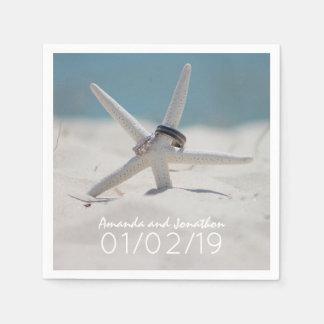 Strand-Hochzeits-koordinierte Reihe Papierservietten
