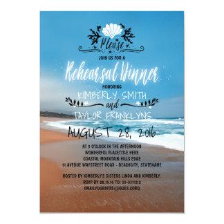Strand-Hochzeits-Proben-Abendessen 12,7 X 17,8 Cm Einladungskarte