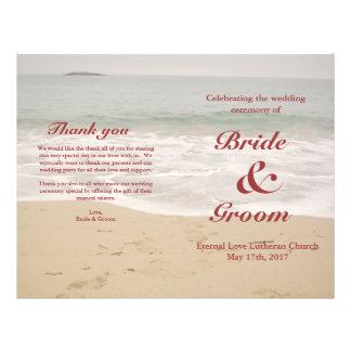 Strand-Hochzeits-Programm:  Sandy-Strand Flyer