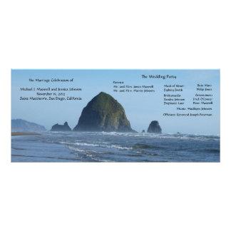 Strand-Hochzeits-Programm Werbekarte
