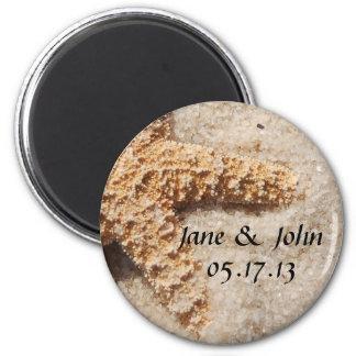 Strand-Hochzeits-Save the Date Magnet - Starfish Runder Magnet 5,1 Cm