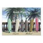 Strand-Hochzeits-Surfbrett-Einladung