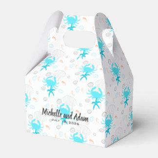 Strand-Hochzeitseashell-personalisierte Geschenkschachtel