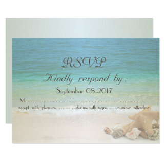Strand-HochzeitSeashells UAWG Karte