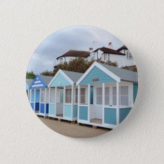 Strand-Hütten bei Southwold Runder Button 5,7 Cm