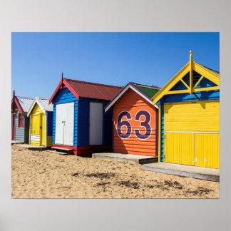 Strand-Hütten durch das Seeplakat Poster