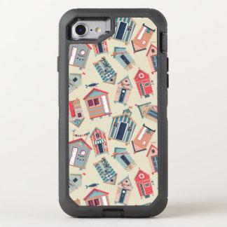 Strand-Hütten-Muster OtterBox Defender iPhone 8/7 Hülle