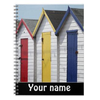 Strand-Hütten personalisiert Notizblock