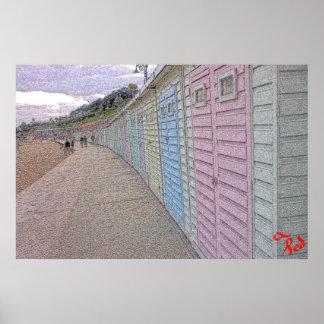 Strand-Hütten Poster