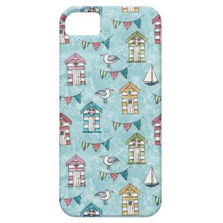 Strand-Hütten-und Möven-Muster iPhone 5 Hüllen