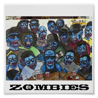 Strand-Hütten-Zombies Poster