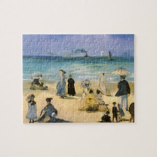 Strand in Boulogne durch Manet, Vintager Puzzle