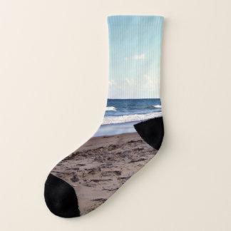 Strand in dem Ozean Socken