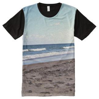 Strand in dem Ozean T-Shirt Mit Komplett Bedruckbarer Vorderseite