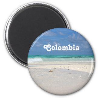 Strand in Kolumbien Runder Magnet 5,7 Cm