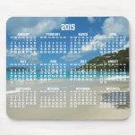 Strand-jährlicher Kalender Mousepads 2015