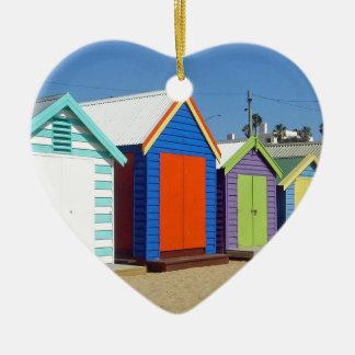 Strand-Kasten-Hütte Melbourne Australien Keramik Herz-Ornament