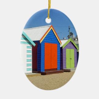 Strand-Kasten-Hütte Melbourne Australien Ovales Keramik Ornament
