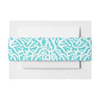 Strand-Korallenriff-Muster-weißes Nautischblau Einladungsbanderole