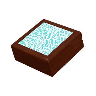 Strand-Korallenriff-Muster-weißes Nautischblau Geschenkbox