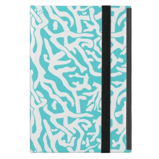 Strand-Korallenriff-Muster-weißes Nautischblau iPad Mini Hülle