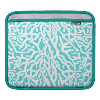 Strand-Korallenriff-Muster-weißes Nautischblau Sleeve Für iPads