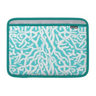 Strand-Korallenriff-Muster-weißes Nautischblau Sleeve Fürs MacBook Air
