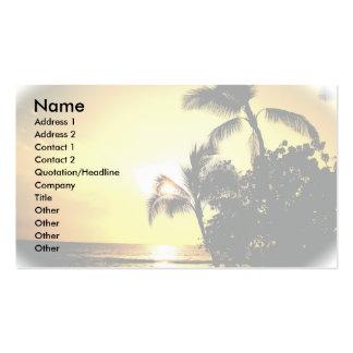 Strand-Küstenlinie-Sonnenuntergang Visitenkarten