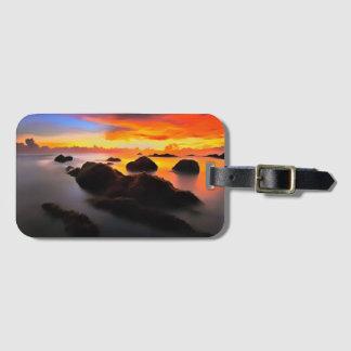 Strand-Landschaft am Sonnenaufgang Kofferanhänger