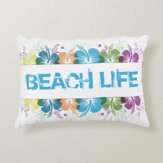 Strand-Leben-Hibiskus-Muster Dekokissen