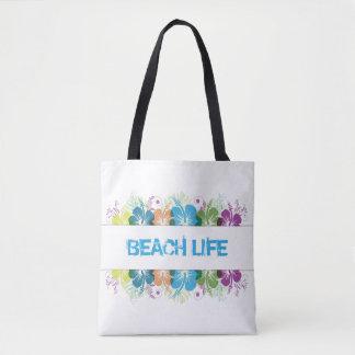 Strand-Leben-Hibiskus-Muster Tasche