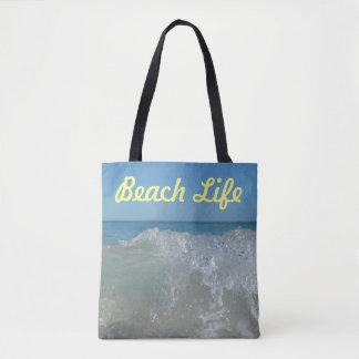 Strand-Leben-Welle Tasche