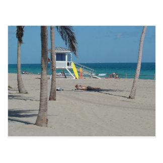 Strand-Leibwächter-Stand Ft Lauderdale Postkarte