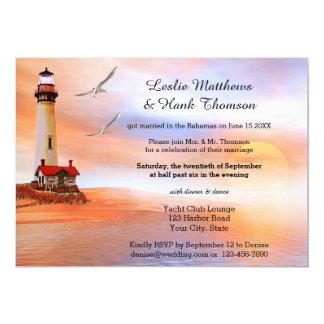 Strand-Leuchtturm-Posten oder, nachdem Einladung