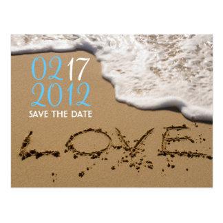 """Strand """"Liebe im Sand"""" Save the Date Postkarte"""