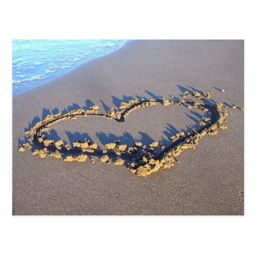 Strand-Liebe Postkarte