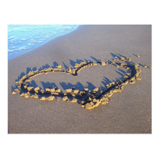 Strand-Liebe Postkarten