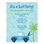 Strand-LKW-Brandungs-Party Einladung - Blau