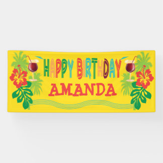 Strand Luau Geburtstags-Party Banner