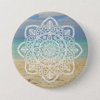 Strand-Mandala Runder Button 7,6 Cm