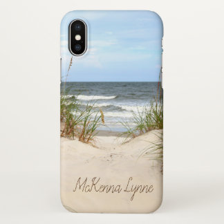 Strand mit Namen iPhone X Hülle