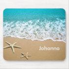 Strand mit Starfish auf Sand Mousepad