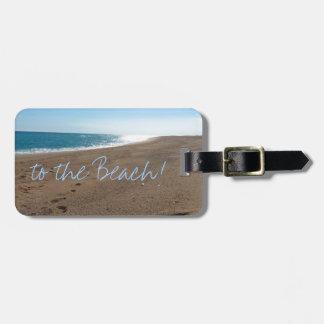Strand mit Zitat Gepäckanhänger