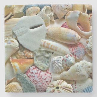 Strand-Muschel-Sammlungs-Fotografie-Untersetzer Steinuntersetzer