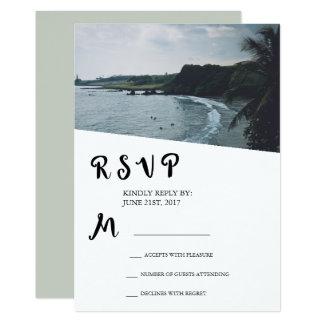 Strand oder tropisches Insel-Hochzeit UAWG Karte